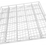 White coated mesh basket