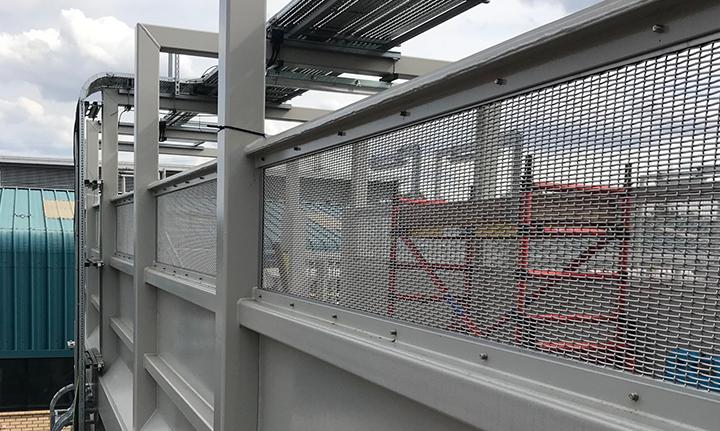Bridge mesh infill panels