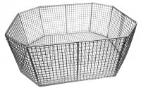 OCTAGONAL STAINLESS STEEL WIRE BASKET