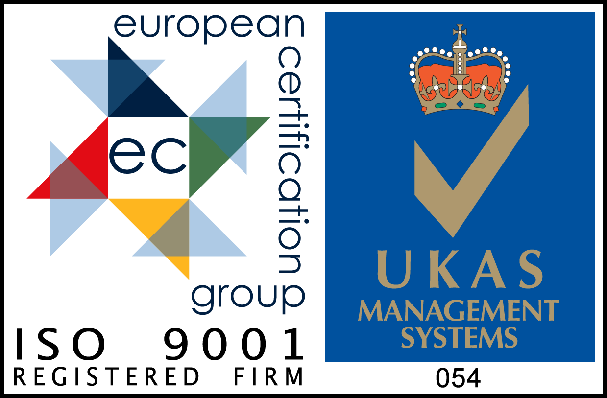 EC UKAS ISO 9001 Registered